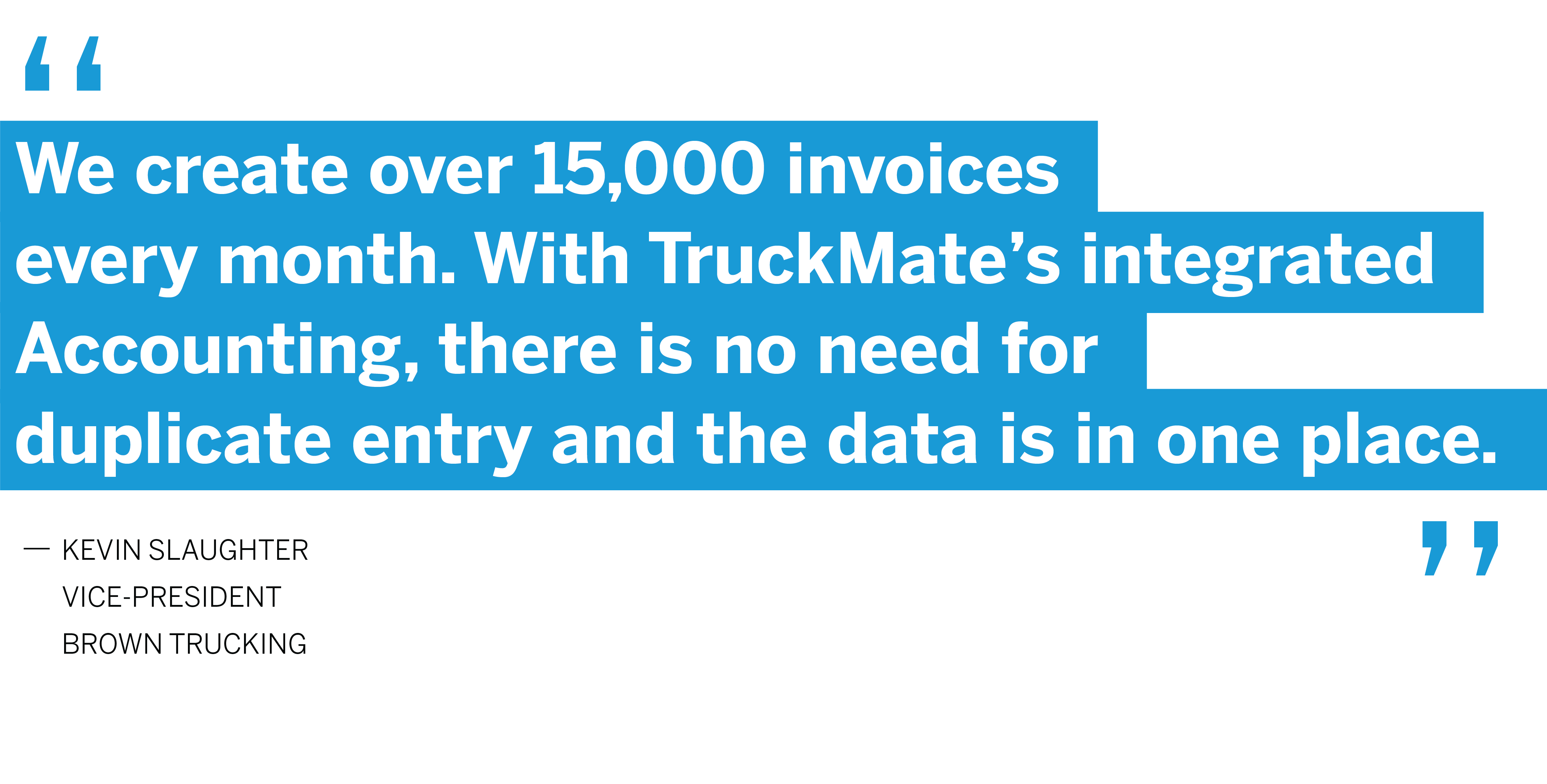 Brown Trucking Quote for TruckMate