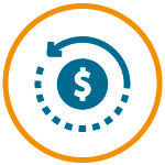 Vector icon for financial planning