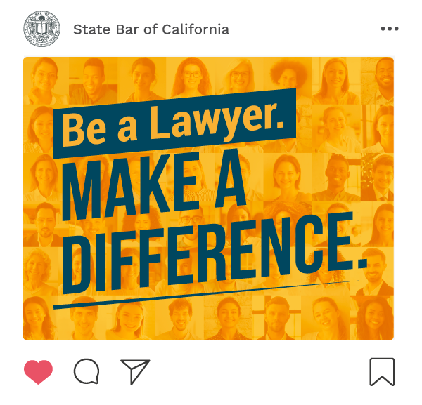 Post Cover: Be a Lawyer. Make a Difference