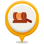 Vector icon of a gavel