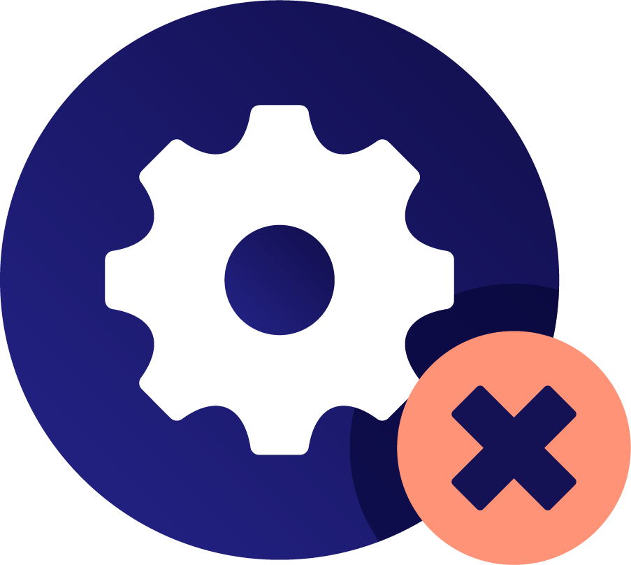 Icon of a gear and a cross