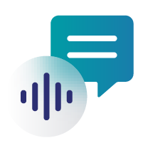 Icon of a speech bubble and a speech waveform