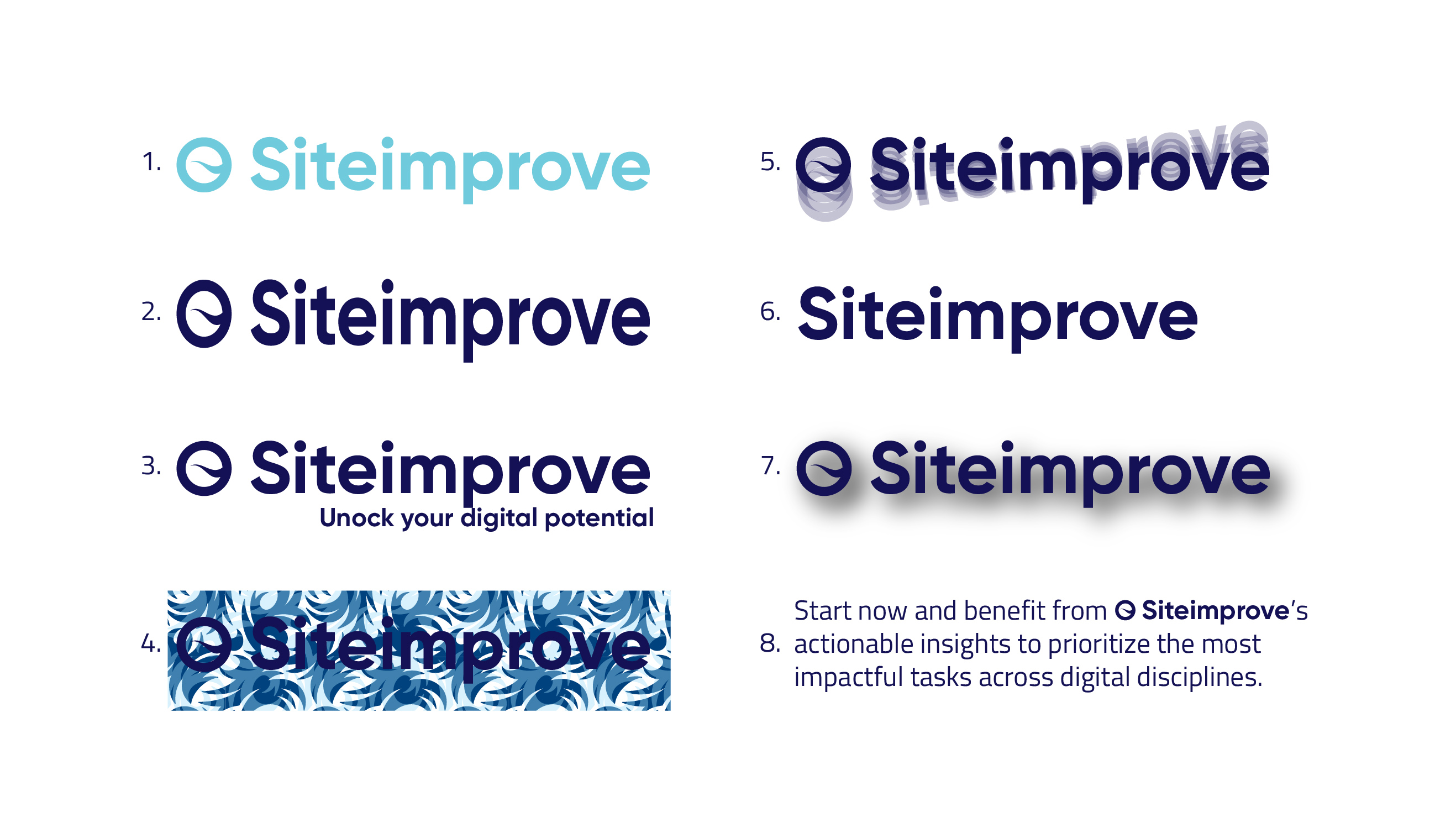Siteimprove logo donts examples