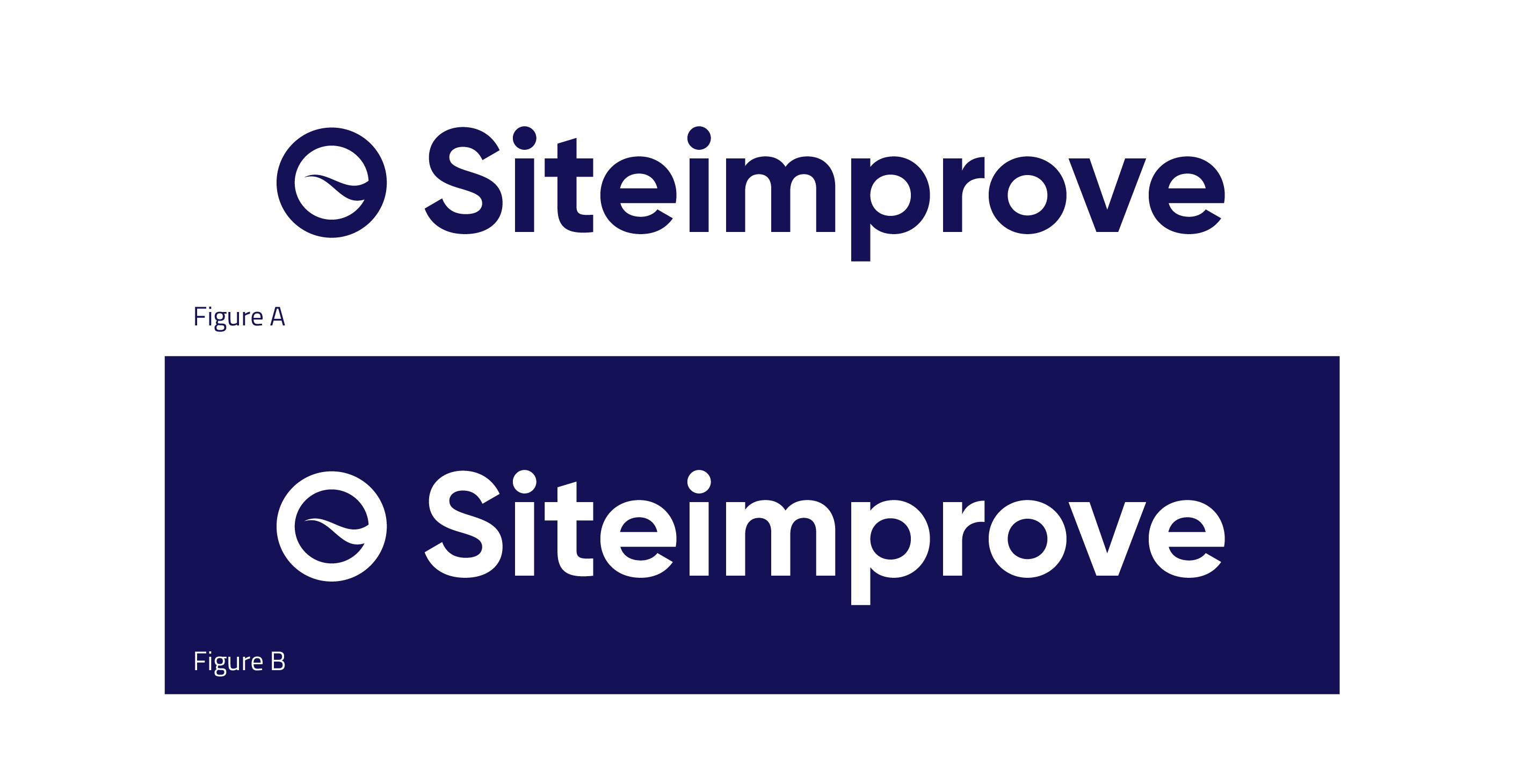 Siteimprove logo on white and blue background