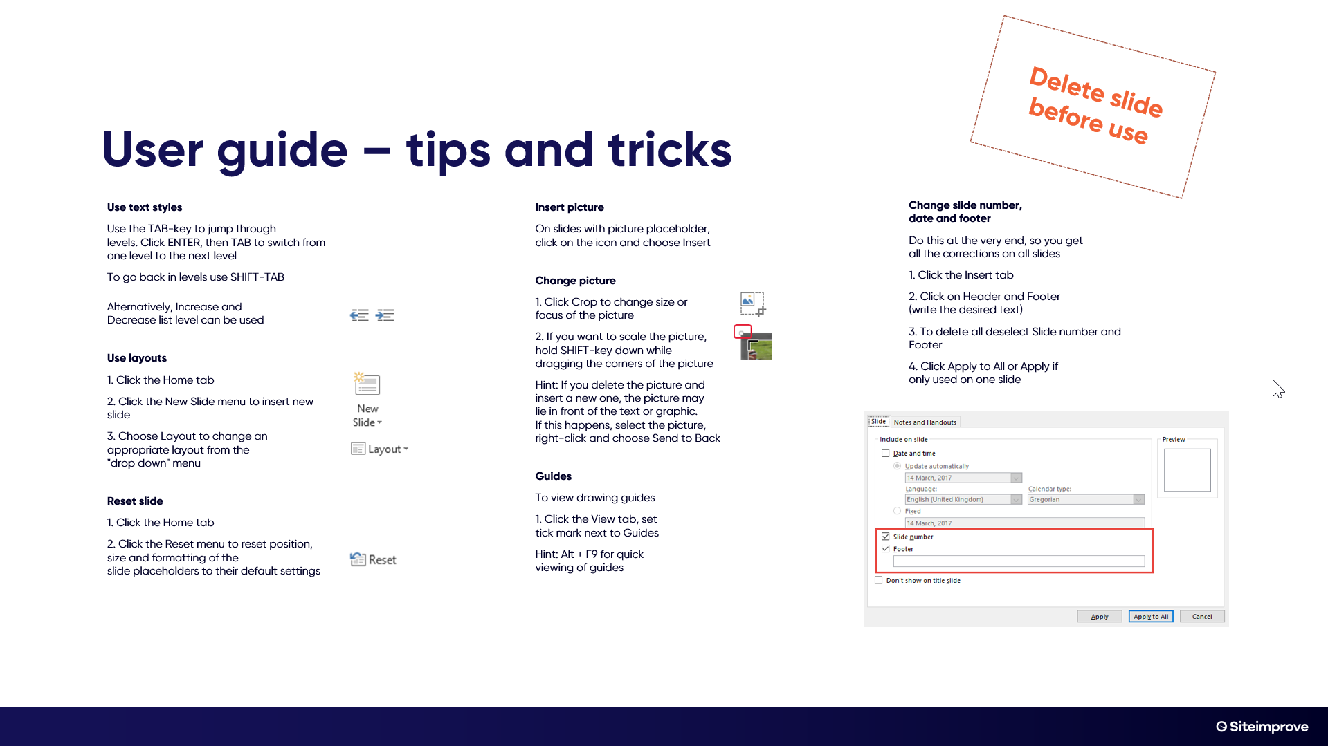 Powerpoint user guide page 2