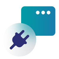Icon of a browser and a plug