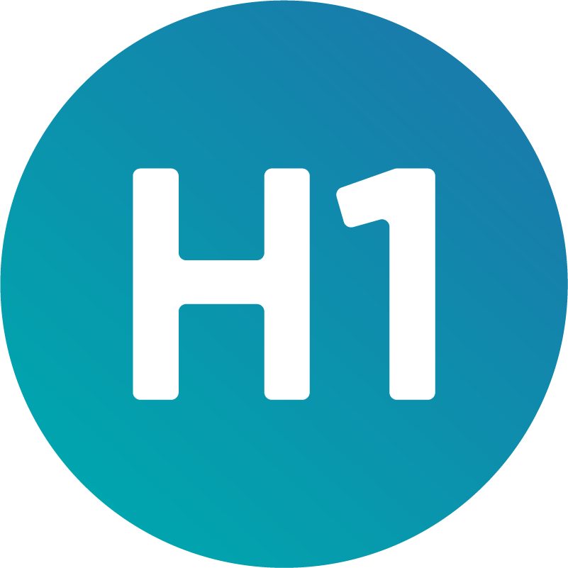 Icon with H1 written