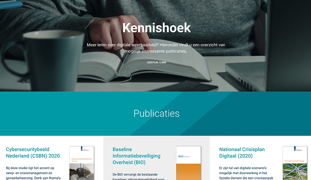 Button doorklik naar pagina 'Kennishoek'