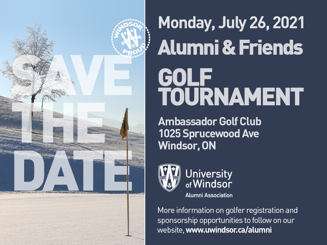 Save the Date for the Alumni and Friends Golf Tournament at Ambassador Golf Club on July 26, 2021