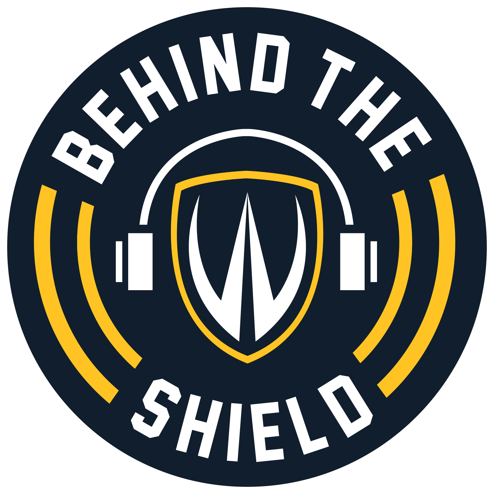 Behind the Shield podcast logo